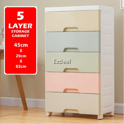 Colorful 5 Layers Large Capacity Drawer Cabinet Storage Box for Kids