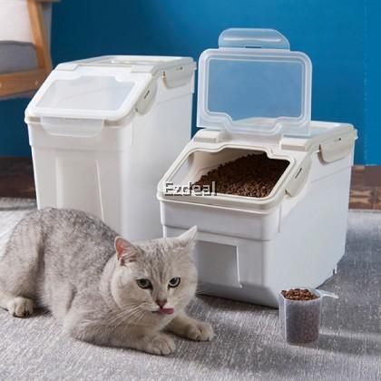 15kg Rice Storage Bucket Kitchen Sealed Cereal Grain Storage Container With Wheels Dapur