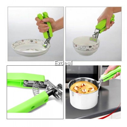 Tongs for Hot Plate Anti-Hot Clip Stainless Steel Anti-Scald Bowl Clip Stainless Steel Dish Clamp Holder