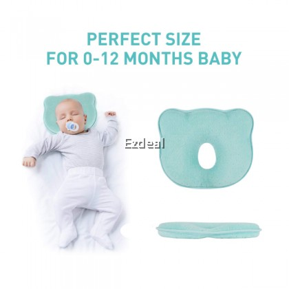 Memory Cotton Breathable Infant Baby Shaping Pillow Prevent Flat Head Sleeping Support