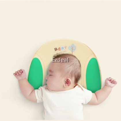 Embroidery Baby Pillow Memory Foam for Newborn Infants 1 - 12 Months Support–Helps with Head Shaping