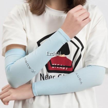 Korean Unisex Silk ice Arm Sleeve Summer Aqua X Cooling Hand Cover