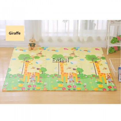 15MM Thickness XPE Baby Play Mat Crawling Mat Foldable Mat Waterproof  Double Side Play Mat 200x180CM