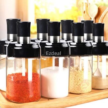 Glass Spice Bottle Jar Condiment Box Sealed Condiment Bottle