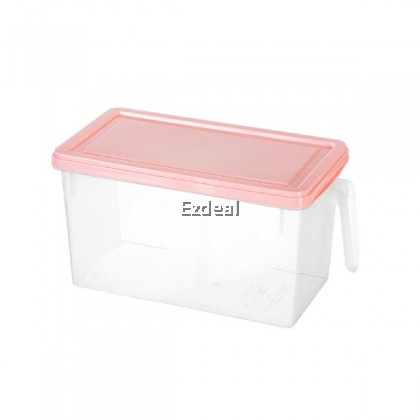 Refrigerator Plastic Storage With Handle Food Container With Lid