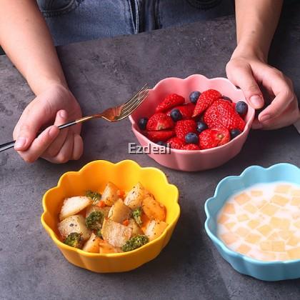 Nordic Ceramic Flower Bowl Tableware Soup Bowl
